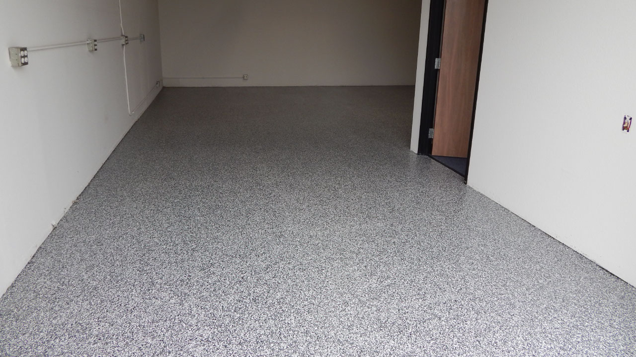 concrete floor after